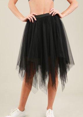 POL Tulle Full Midi Skirt-S