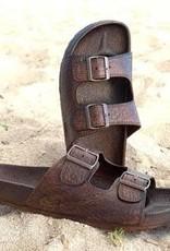 Pali Hawaii Buckle Sandal- Brown-Size 13
