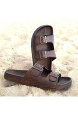 Pali Hawaii Buckle Sandal- Brown-Size 13
