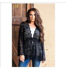 Other's Follow SaleTie Waist Lace Kimono L