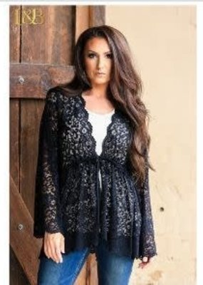Other's Follow SaleTie Waist Lace Kimono L