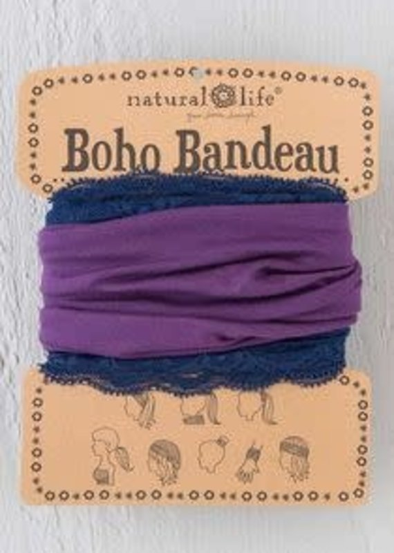 Natural Life Lace Bandeau- Eggplant/Navy