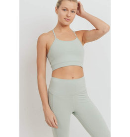 Mono B Braided Back Sports Bra