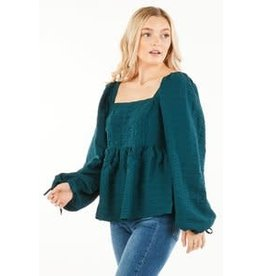 Loveriche Baby Doll Top w/ Ruched Detail
