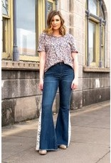 L & B Flare Jeans with Lace Instered-14