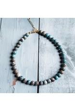 Jewelry Junkie Ocean Agate Choker Nckless