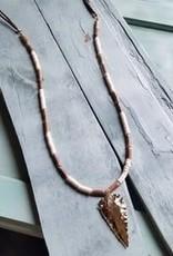Jewelry Junkie Arrowhead White Turq & Wood