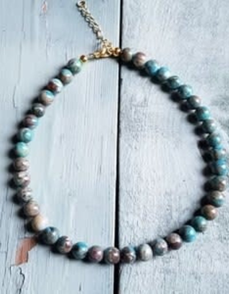 Jewelry Junkie Blue Turquoise Choker Necklace