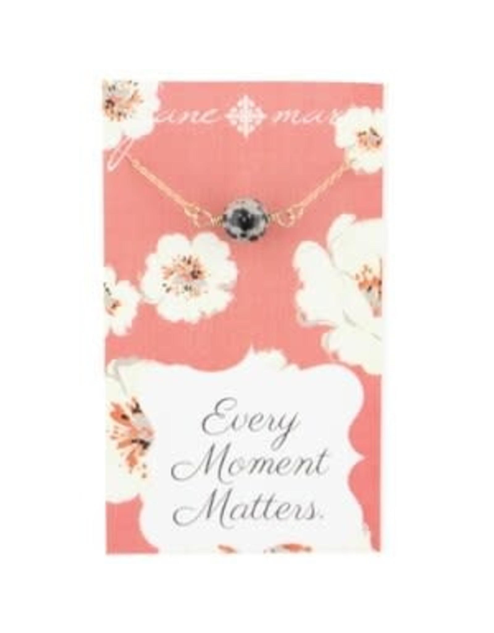 Jane Marie Dalmatian Stone Necklace