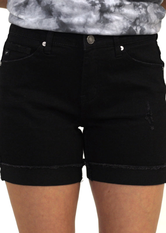 Kancan High Rise Cuffed Shorts