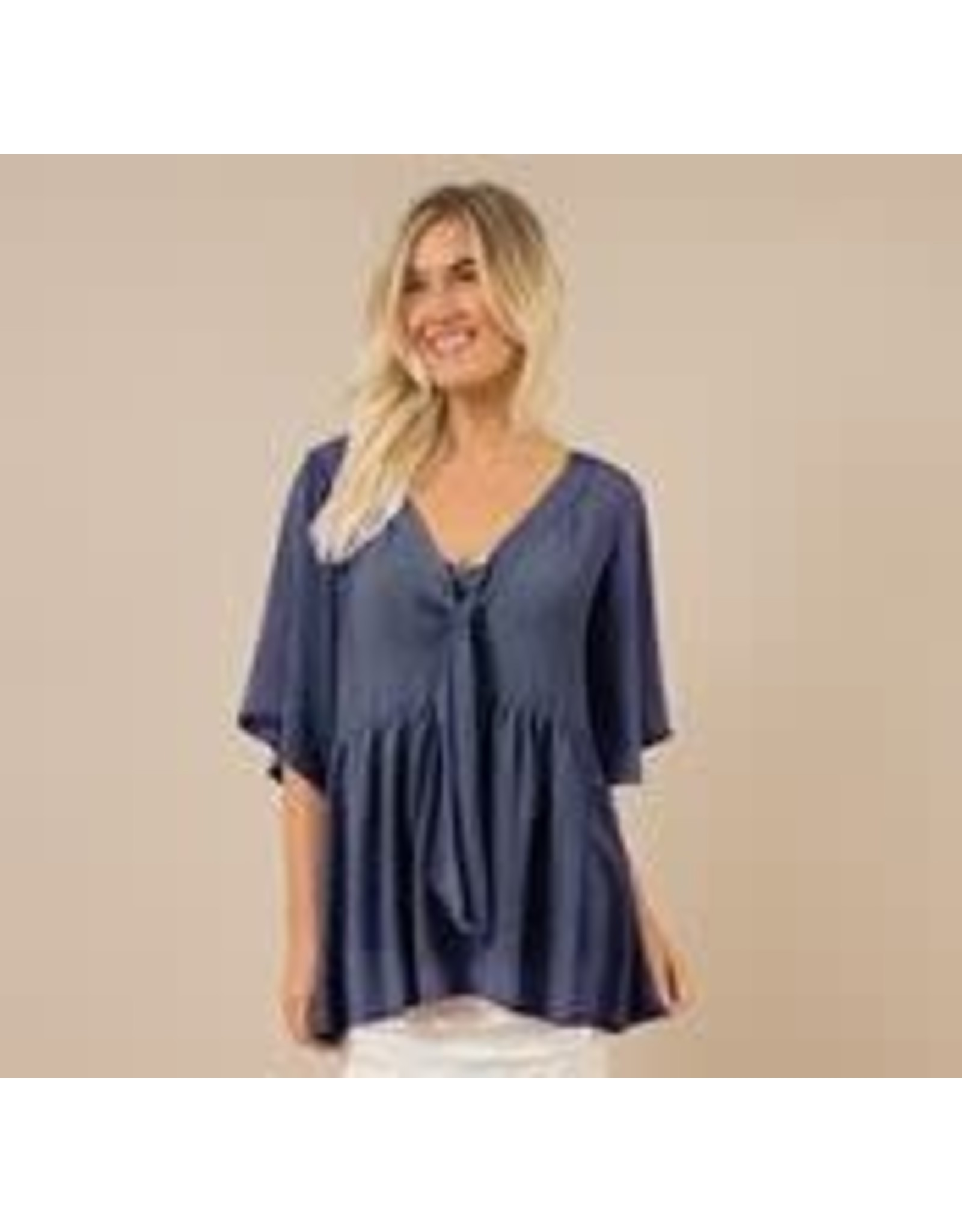 Simply Noelle Dot Your I's Tie Top