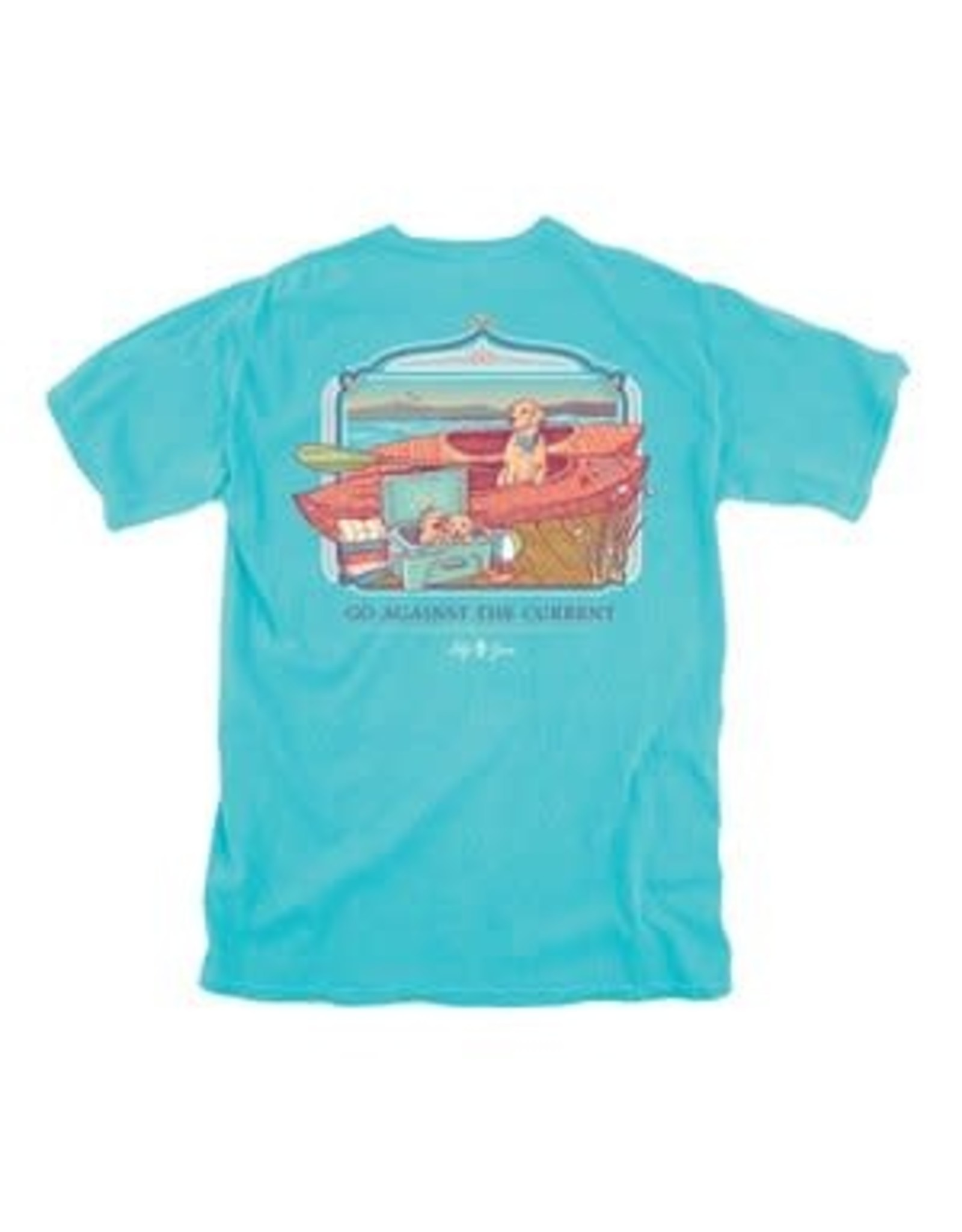 Lily Grace Dogs With Kayak T-Shirt