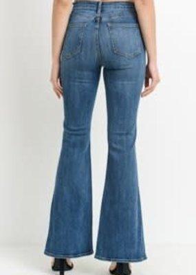 Just Black Denim High Rise Side Slit Flare Jean