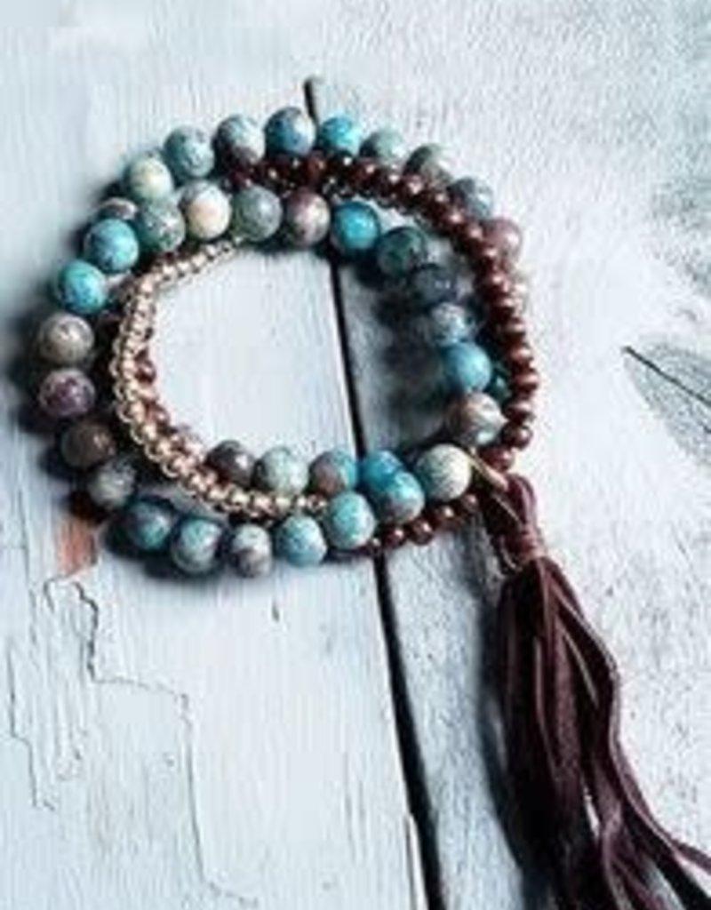 Jewelry Junkie Blue Ocean Agate Bracelet Tasse