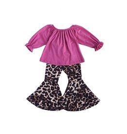 Honeydew Clothing Leopard Bell Bottoms