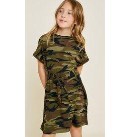 Hayden Los Angeles Camo Tie-Front Dress