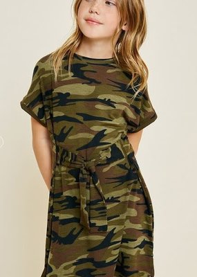 Hayden Los Angeles Camo Tie-Front Dress