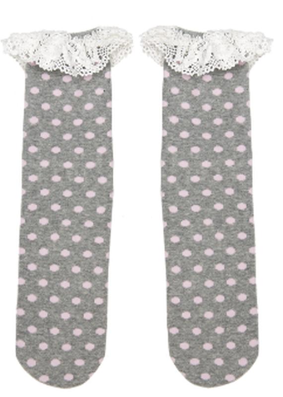 Ganz USA LLC Boot Cuff Socks-Pink Dots