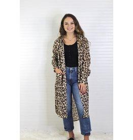 Turquoise Haven Cheetah Shirt Dress