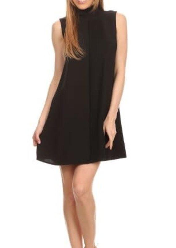 Freeway Solid Sleeveless Short Dress-L