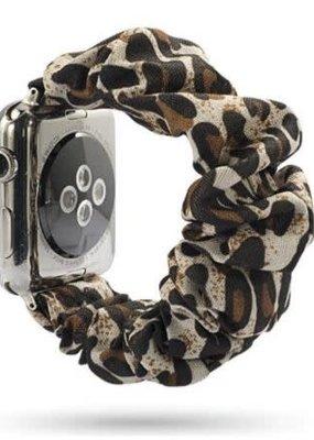 Ethel and Myrtle Inc Scrunchie Watch Band Cheetah