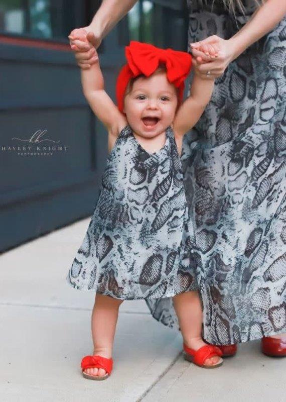 Bailey's Blossoms Savanah Sun Dress-Snakeskin