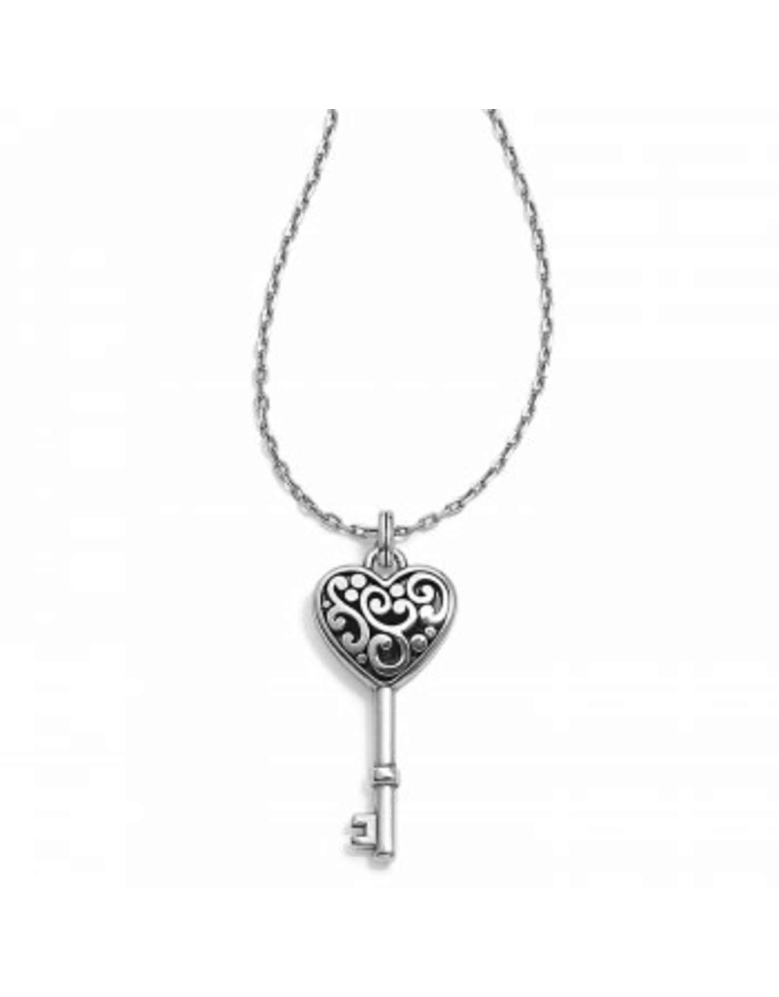 Brighton Contempo Heart Key Necklace