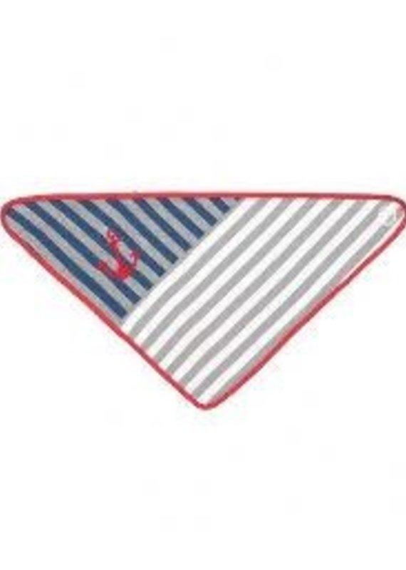 Apple Park Grey Stripes Bandana Bib