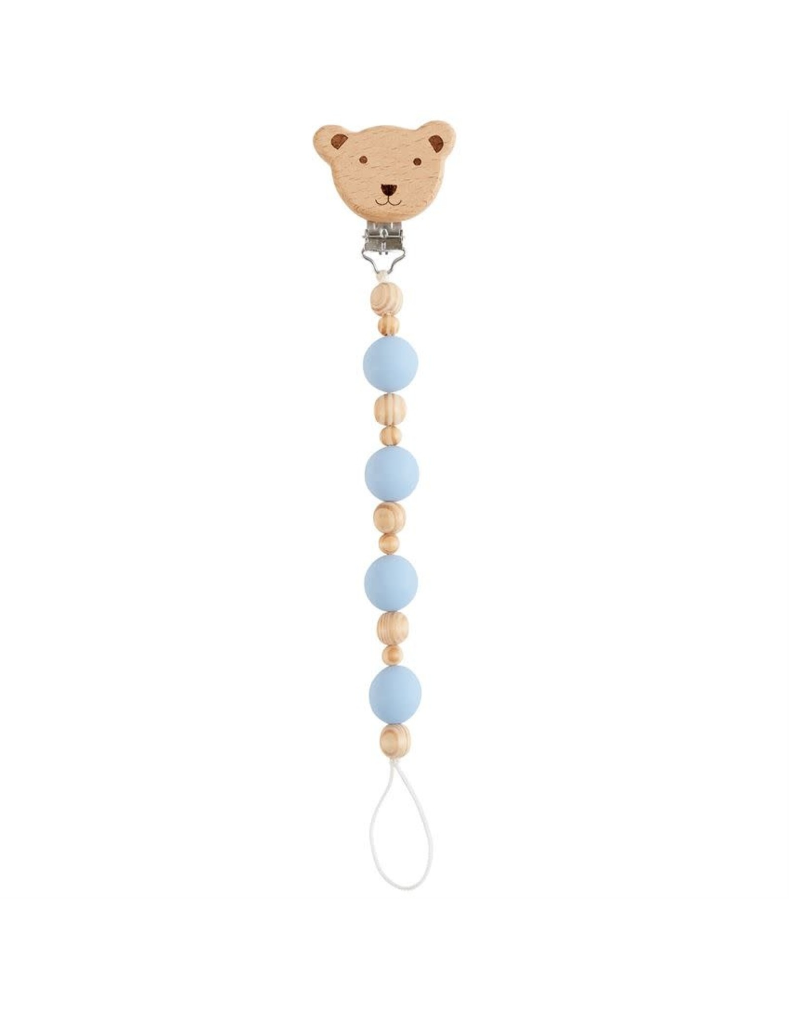 Mud Pie Bear Wooden Pacy Clip