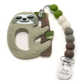 LouLou Lollipop Silicone Teether Set-Sloth