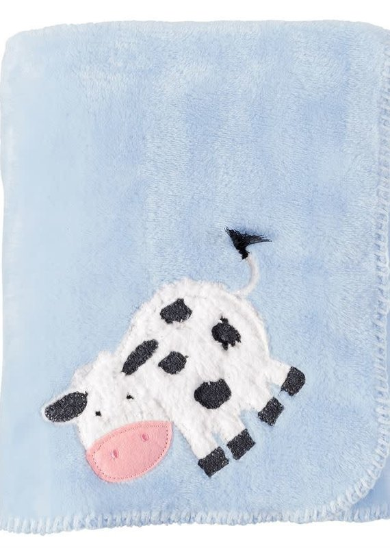 Mud Pie Cow Fleece Blanket