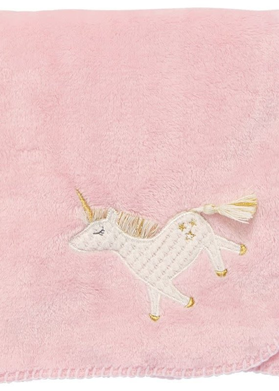 Mud Pie Unicorn Fleece Blanket
