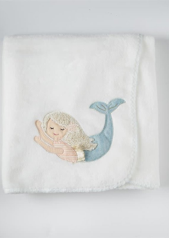 Mud Pie Mermaid Fleece Blanket