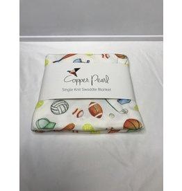 Copper Pearl Varsity Swaddle Blanket-Varsity