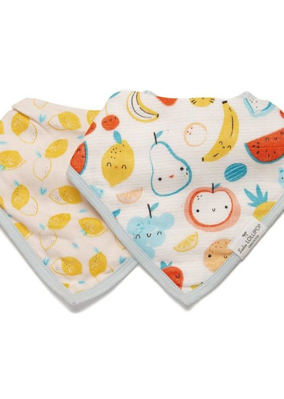 LouLou Lollipop BANDANA BIB SET-CUTIE FRUIT
