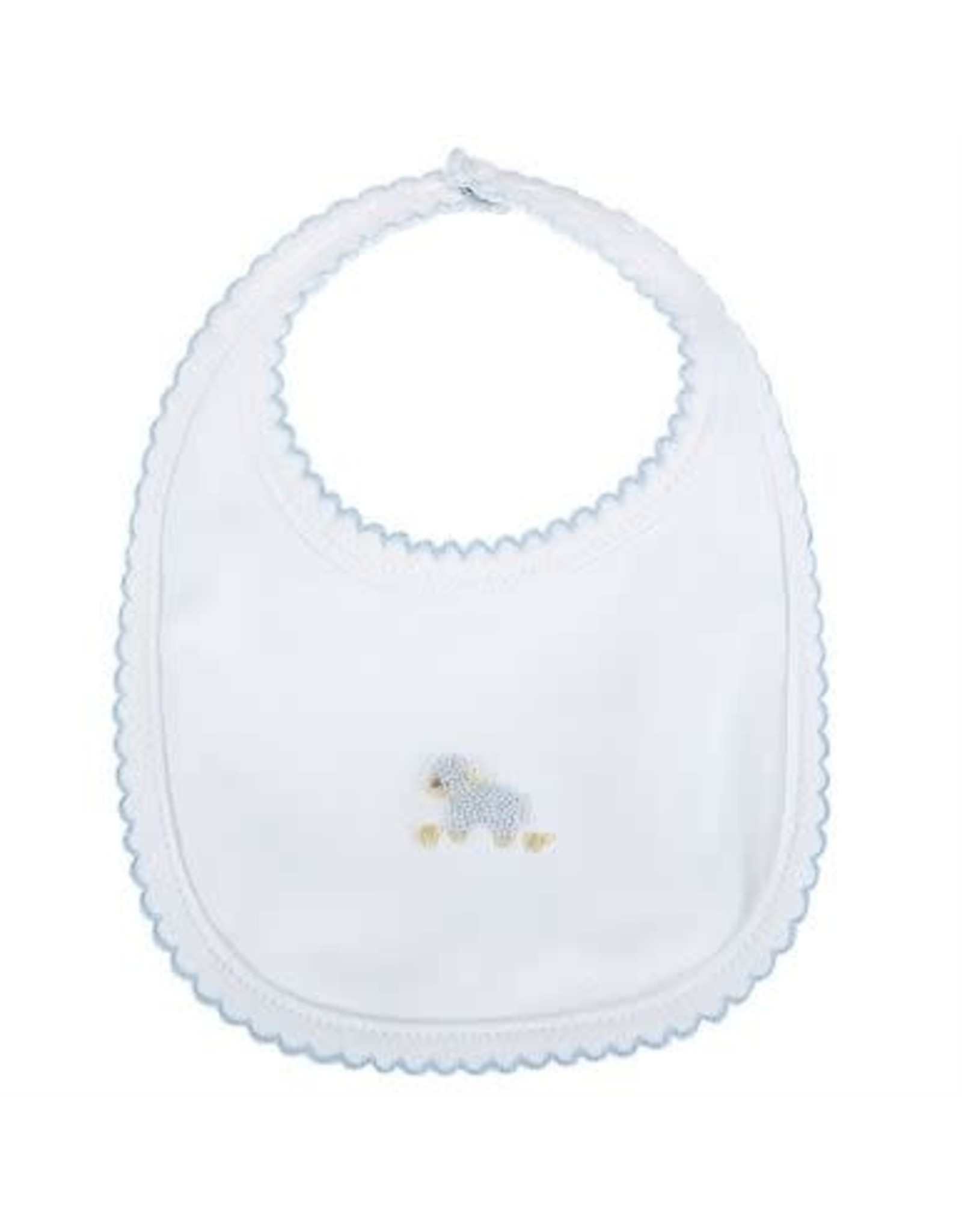 Mud Pie French Knot Lamb Bib