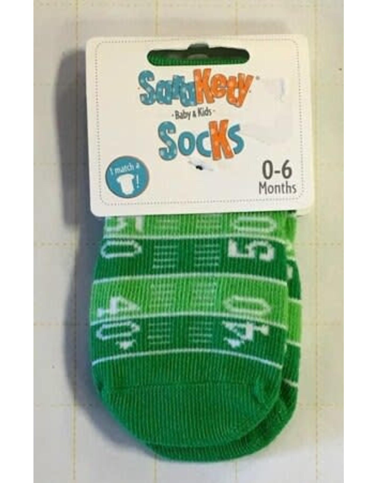 Sara Kety LLC Football Field Socks 0-6M
