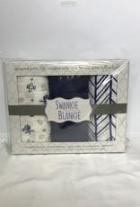 Swankie Blankie Gauze Blanket Box Set-Blue