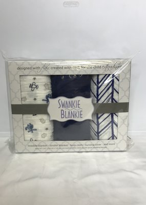 Swankie Blankie Gauze Blanket Box Set-Blue