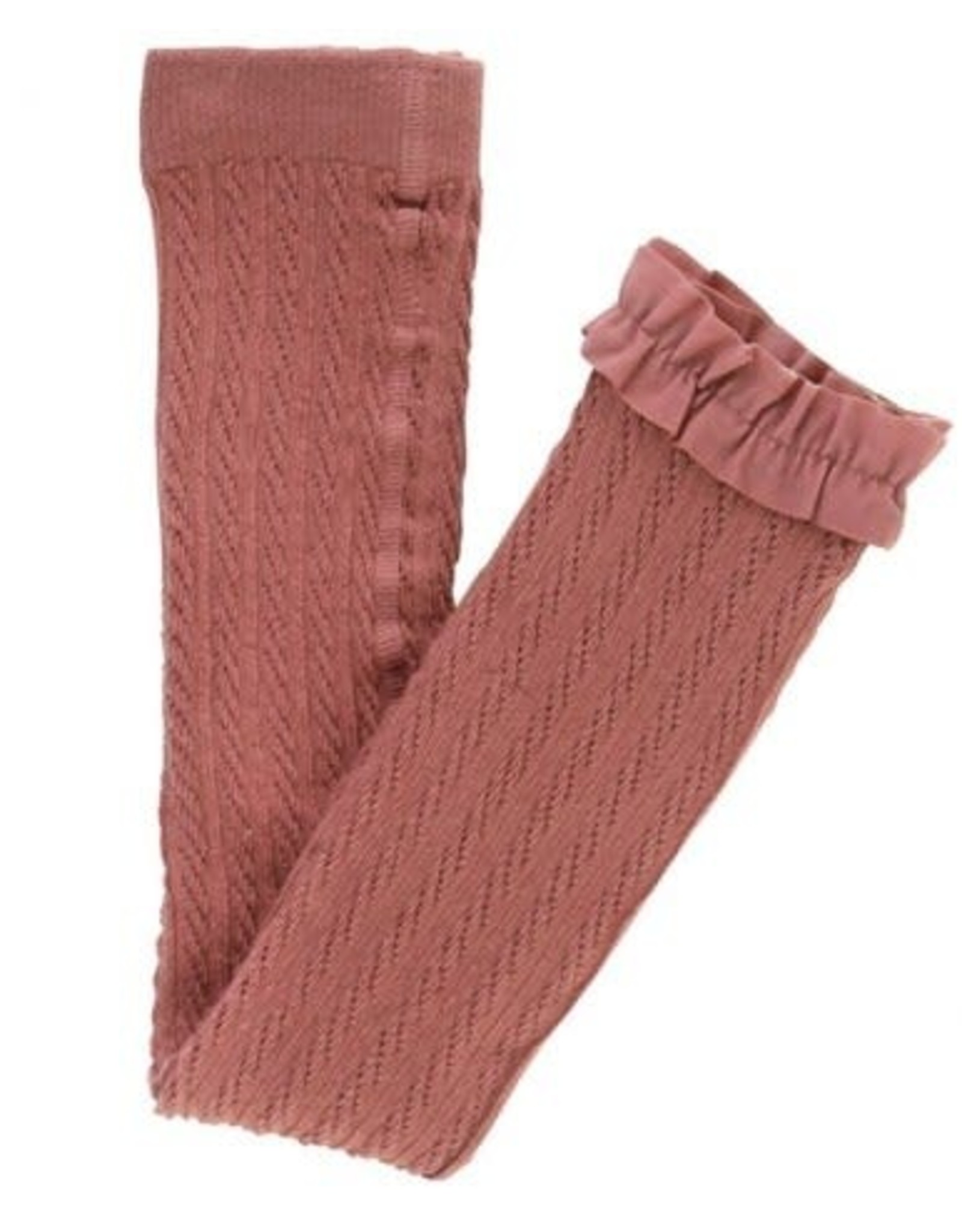 Rufflebutts Mauve cable knit tights