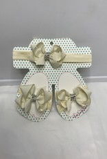 Beyond Creations Bling Bow Headband Sandal Set