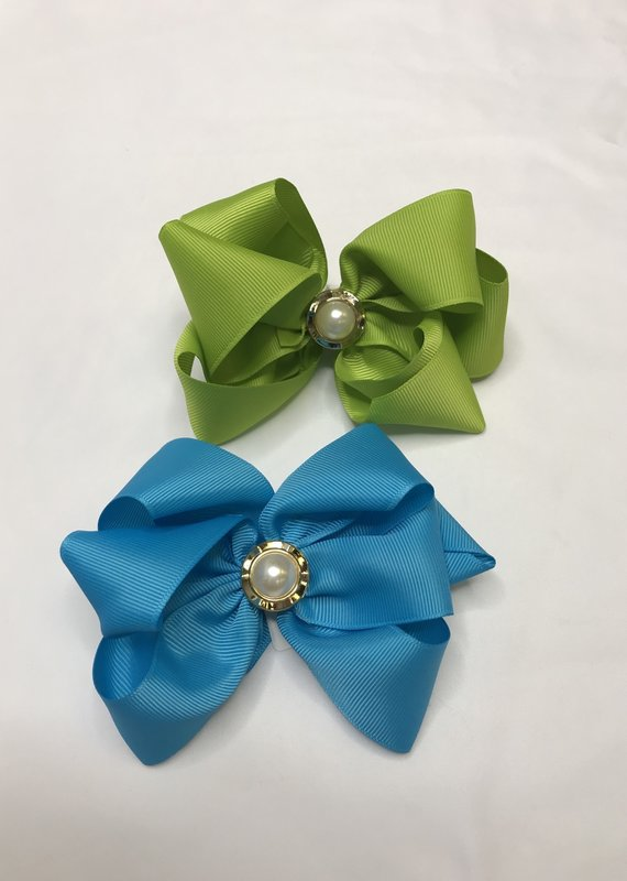 Haute Bows Large With Pearl Accent