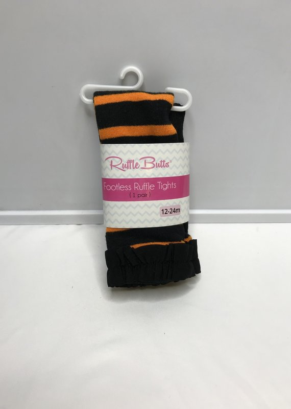 Rufflebutts ORG/BLK Footless Tights
