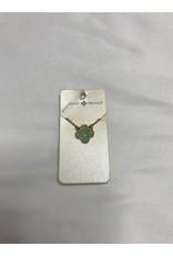 Jane Marie Mint Clover Druzy Necklace