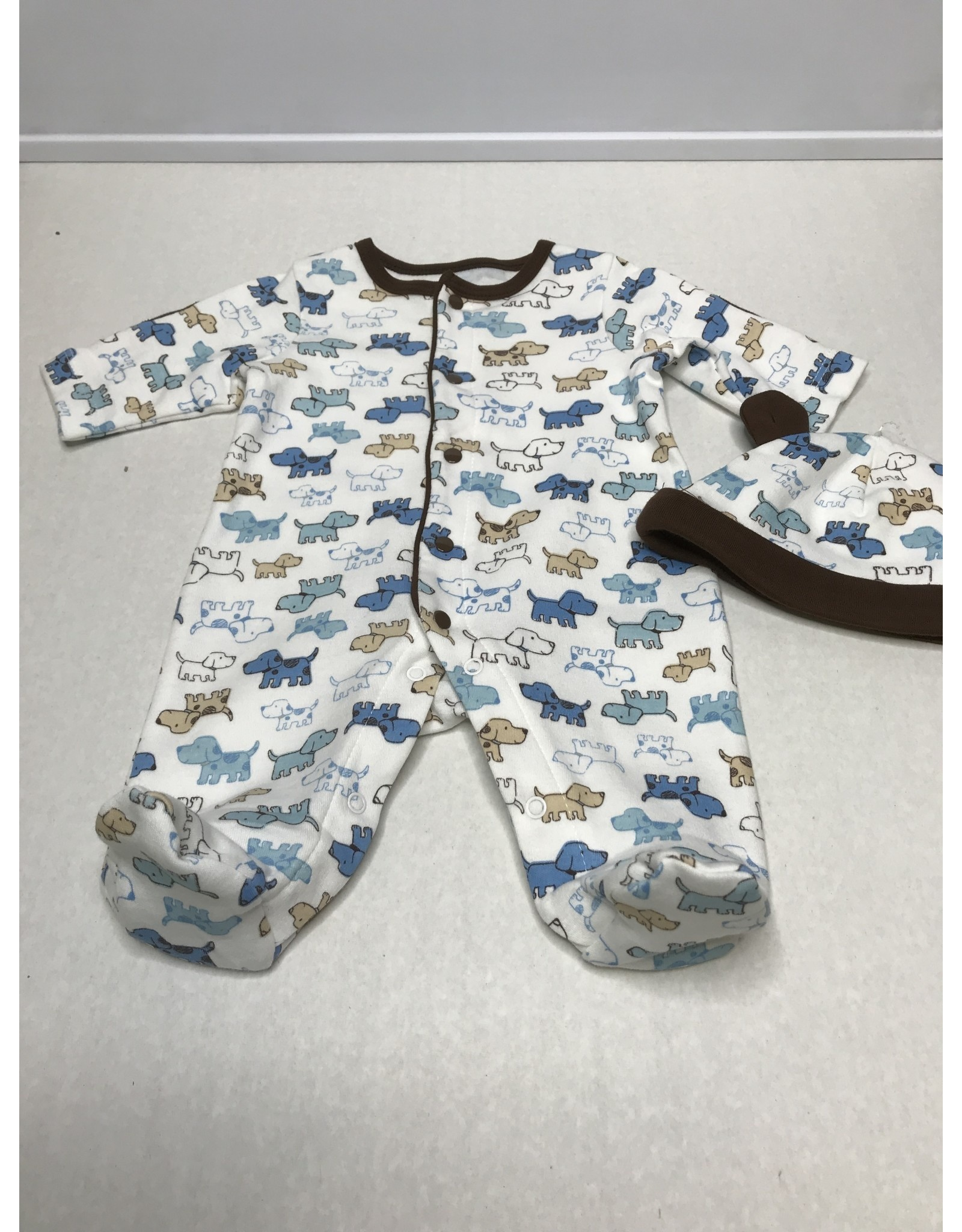 Little Me Cute Puppies Footie-Preemie