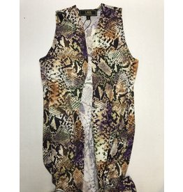 L & B Kids Snake Sleeveless Kimono Purple -L