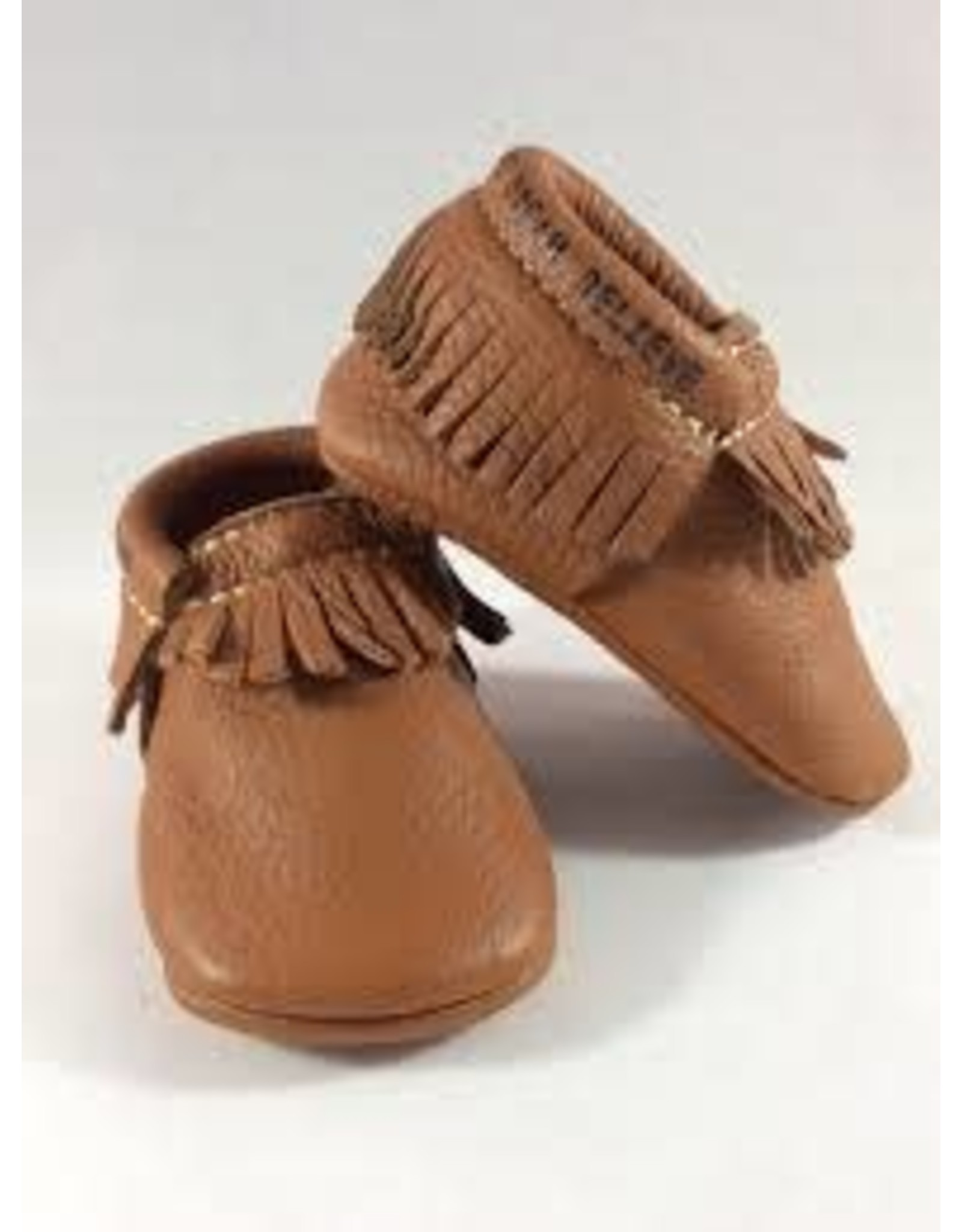 Mud Pie Leather Moccasins Brown 0-6M