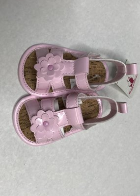 Josmo Shoes Pink Patent Crib Shoes