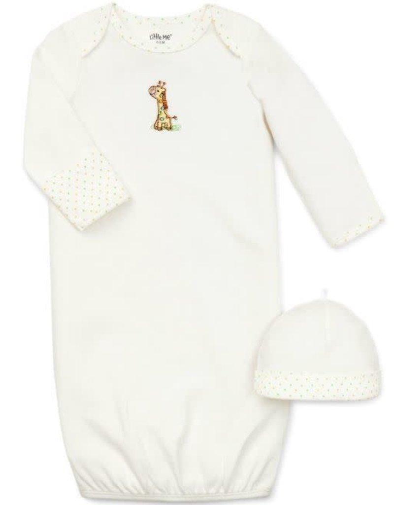 Little Me Giraffe Gown-0/3M