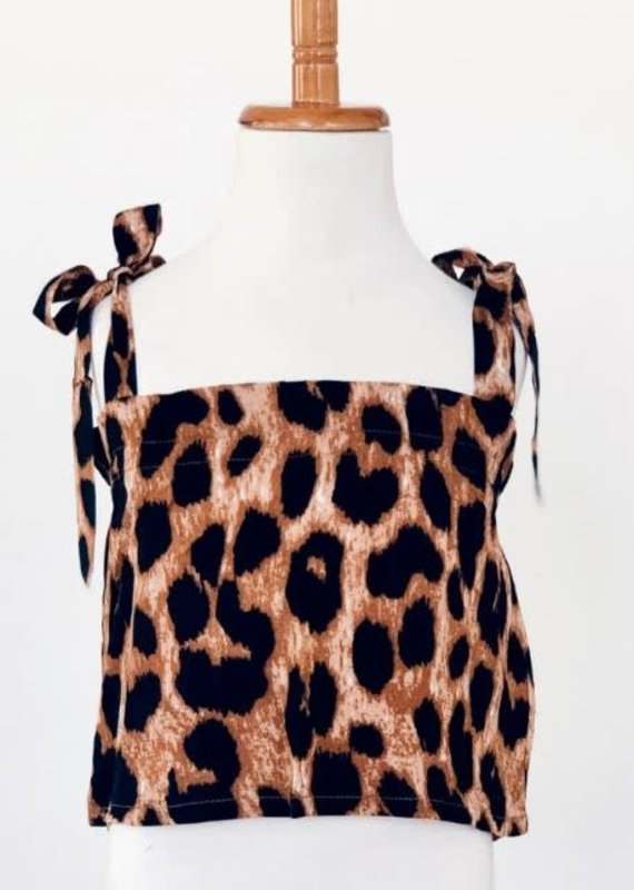 Bailey's Blossoms Thia Tie Tank-Leopard